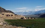 Bergdorf im Pamir, Xinjiang-Provinz, VR China