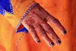 Henna-Bemalung, Beduinenfrau, Wahiba Sands