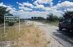 Piste zur Makgadikgadi Pan
