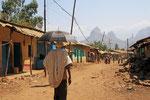 Dorf in der Nähe der Semien-Berge