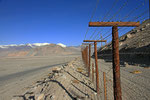 Grenzzaun zu China, Karakul-See, Pamir, Tadschikistan
