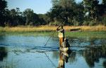 Mokoro, Boro River, Moremi Game Reserve, Okavango-Delta