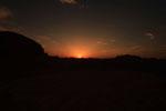 Sonnenaufgang in der Wüste Dascht-e Lut