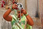 Heiliges Wasser, Galta Ji (Affentempel), Jaipur, Rajasthan