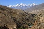 Wakhan-Korridor mit Schadarkette und Pik Karl Marx im Hintergrund, Pamir, Tadschikistan