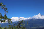Pokhara, Blich zur Himalaya-Hauptkette