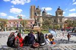Placa Murillo mit Präsidentenpalast, La Paz, Bolivien