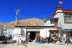 Dorfansicht bei Keyrong, Tibet