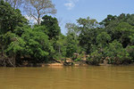 Hütten am Sanhga-Fluss, Zentralafrikanische Republik