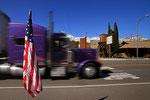 Straßenszene in Lone Pine, Kalifornien