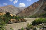 Panj, Grenzfluss zwischen Tadschikistan und Afghanistan