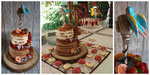 26 personen taart met bijpassende cupcakes