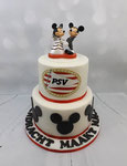 Mickey en Minnie Mouse bruidstaart