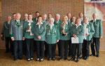 Unsere Schützendamen und Herren die für Ihre langjährige Mitgliedschaft im Verein ( 25 Jahre, 40 Jahre und 50 Jahre )ausgezeichnet wurden.