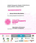 Constancia de Participación en la Conferencia Mujer Madre y Profesionista, Expo PYME Mujer 2012