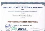 Diploma de Maestría en Atención Temprana por ITEAP