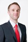Profilfoto mit roter Krawatte