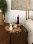 Apfel-Baumrugel Salontisch: komplett aus Massivholz, ohne Metall gefertigt