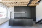 Designküche MDF, natur lackiert