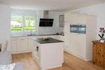 L-Küche mit Rüstinsel, Tagesansicht