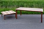 Nussbaumtisch aus Seveler Holz