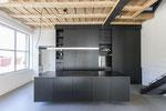 Designküche MDF, mit Schiebetüren