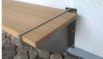 Sitzbank mit Stahlwinkel Aufhängung