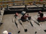 Cartagena, having a bath in the mud volcano :-)