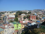 The colourful houses in Valparaiso