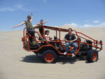 Dune buggy ride through the desert in Huacachina. This is more scary than any rollercoaster...but so much fun.