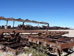 Amazing photo spot. The train cementary near Uyuni.