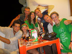 St. Patricks Day in Máncora with Dave, Janis, Lee, me, Alex, Dominique and Jeanna