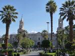 Arequipas beautiful Plaza de Armas