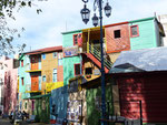 Colouful houses in La Boca, Buenos Aires