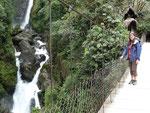Devils waterfall in Baños