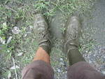 My feet after crossing a mud slide^^