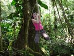 San Gil, hike to the Juan Curi Waterfalls, Playing Tarzan :-)