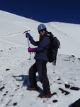 Climbing the Villarica volcano with crampons and ice axe