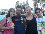 "Baranquilla Carnival, We just had to take a picture with this guy wearing a ""Germany T-Shirt"""