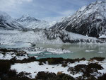 Amazing snow landscape at Mt Cook