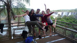 Lynn (Belgium), me, Alex (France), Alex (England) and Agnes (Mauritius) in front of the Falls