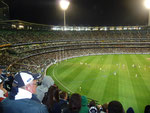 A must-see in Melbourne: Football game at the massive MCG stadium (Carlton vs Geelong Cats)