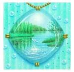 クリアフレーム(新緑の湖)