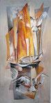 VOILES et MOUETTES               huile/toile 60x120              non disponile