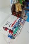 Dies ist ein Ziehkarte. Der Auszug ist ein Fach, in dem man einen Gutschein verstecken kann.