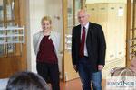 Iva Schell und der Vorstitzende des Schulgemeindeverbandes Wolfsberg GR Mag. Karl Schwabe