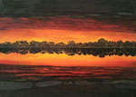 Crépuscule sur le lac d'Hossegor Acrylique sur toile 60x80cm 2016
