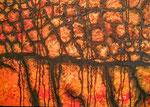 Incandescence  Acrylique sur toile 50x70cm 2016