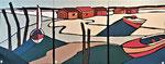 Audenge Triptyque  Enduit acrylique sur toile 3x50X60cm 2020