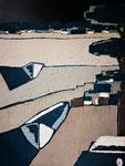 Lac d'Hossegor 3 Enduit acrylique sur toile 40X50cm 2019